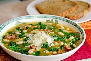 White Bean Soup with Andouille and Kale