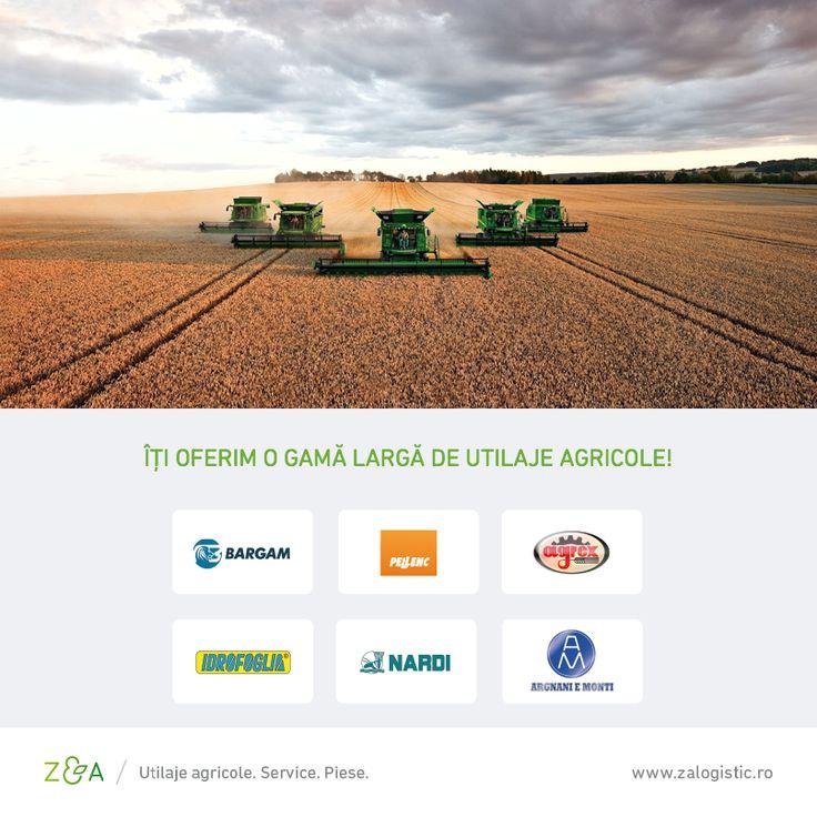 Z&A Logistic îți pune la dispoziție o gamă largă de utilaje agricole de calitate pentru cultură mare, pomicultură și viticultură.