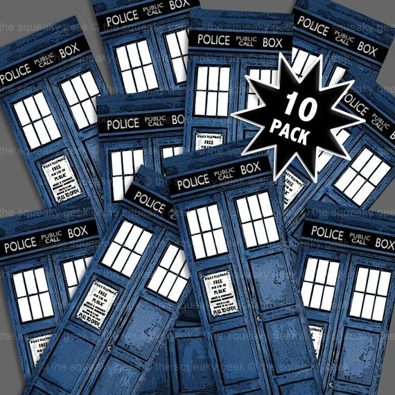 BBC Doctor Who TARDIS bookmarks  pack of 10 by TheSqueakyGeek, £8.49