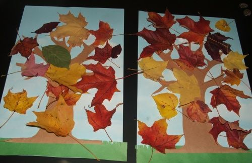 autumn craft ideas for toddlers. I am going to do this with a limb as the trunk instead of a paper trunk.