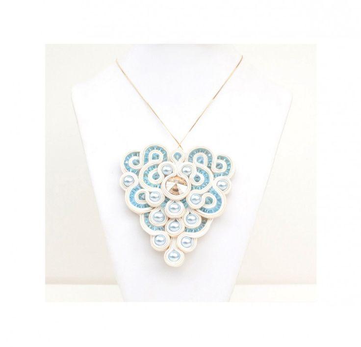 #necklace # collana #soutache #Swarovski #woodbine #pantone #springsummer #2015 #romantic #chic #allegrettaglamour #handmade #madeinitaly