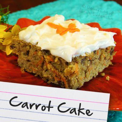 Recipes for Diabetes: Carrot Cake