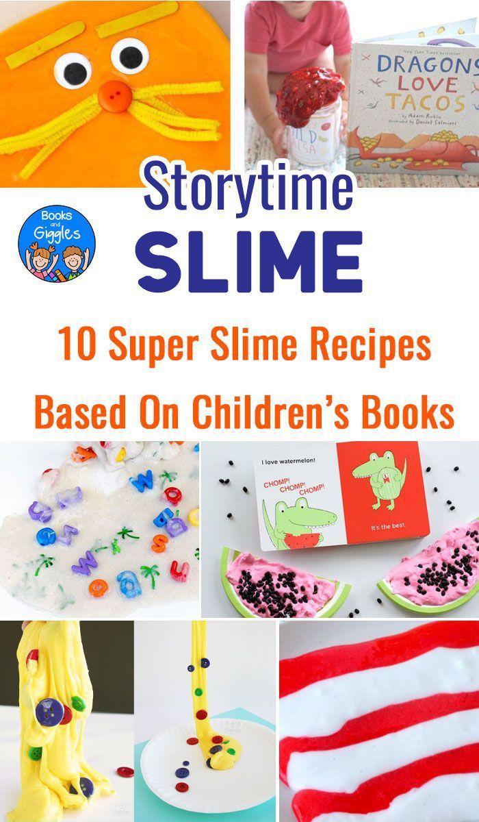 10 Super Slime Recipes Based On Children S Books Book Themed Activities Childrens Books Activities For Kids