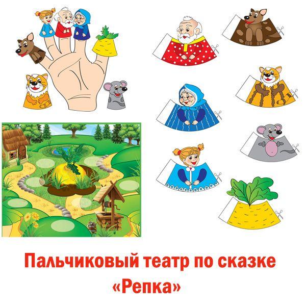 """Пальчиковый театр по сказке """"Репка"""""""