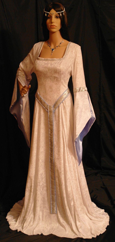 ELVEN DRESS medieval renaissance fairy dress LOTR custom made