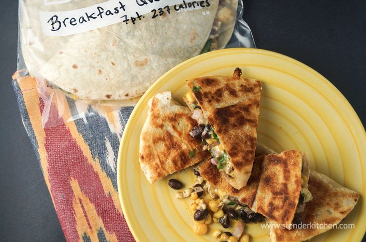 Frozen Breakfast Quesadilla | Slender Kitchen