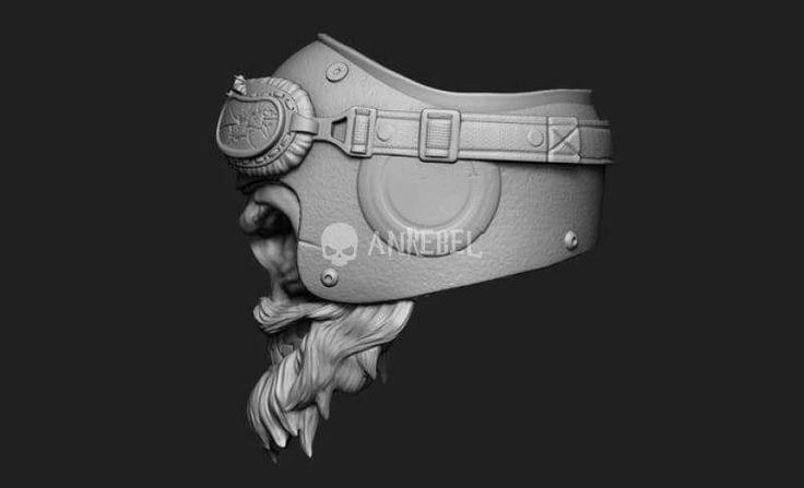 Mad Helmets HD Triumph Motorcycles Haarperlen Bearded Skeletons Harter Schaden   – Motorrad
