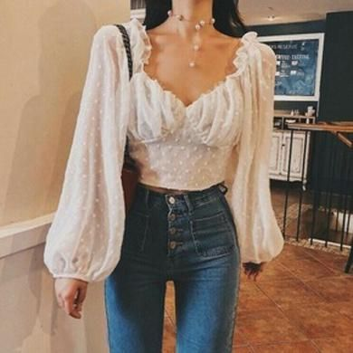 LETITIA bell sleeve lace top