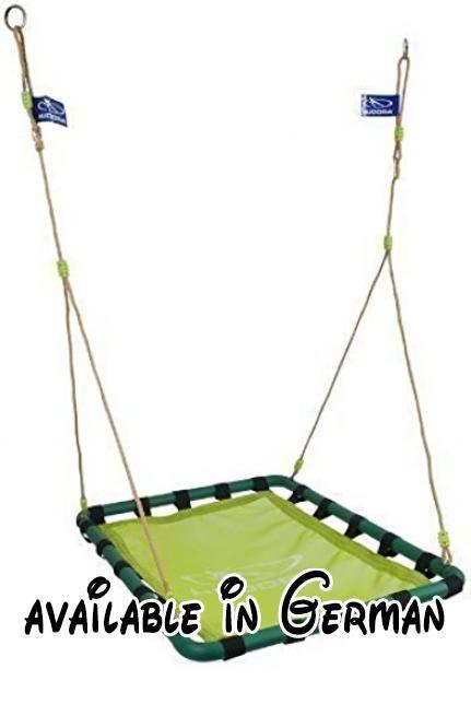 Hudora Alu - Nestschaukel Square 120 hell/dunkelgruen 72158. Sicheres Aufhängungssystem. Geschlossene Sitzfläche für angenehmes weiches Sitzen. Höhenverstellbar. Hochwertiger Aluminiumrahmen #Toy #TOYS_AND_GAMES