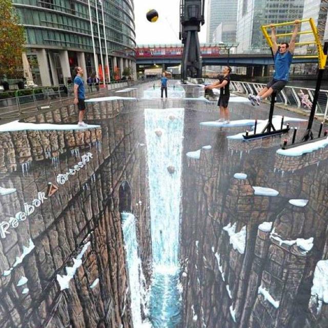 Biggest 3D Sidewalk Painting - London