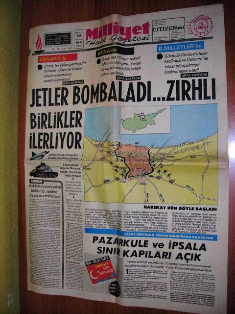 Harita, Gazete ve Afişlerle Kıbrıs Barış Harekatı   Tarihi Keşfet !