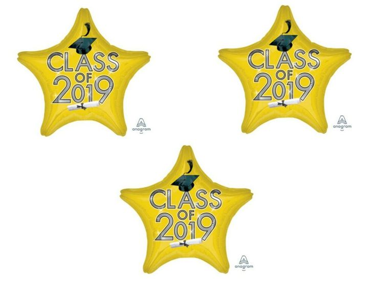Set of 3 Yellow Class of 2019 Balloons Decoration Graduation Party Supplies  #Unbranded #Graduation