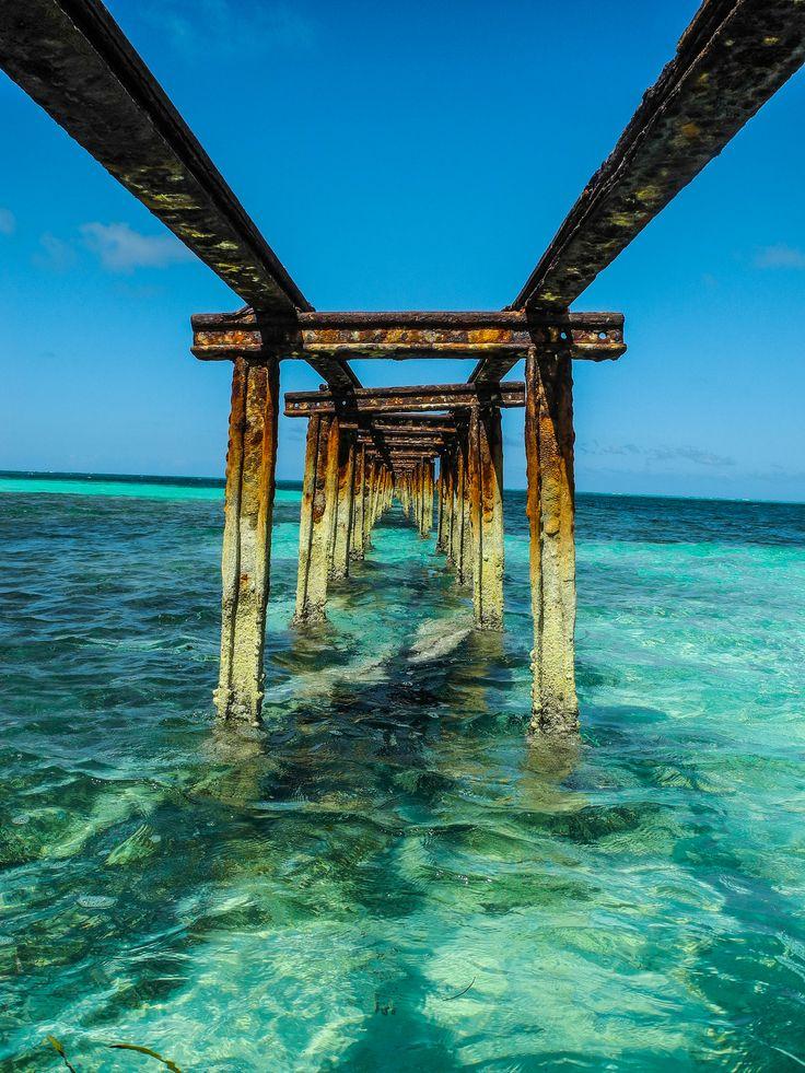 Broken Pier, Playa Santa Lucía   Cuba (by Ryan...