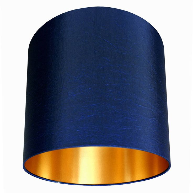 Handmade Gold Lined Lampshade Midnight Blue