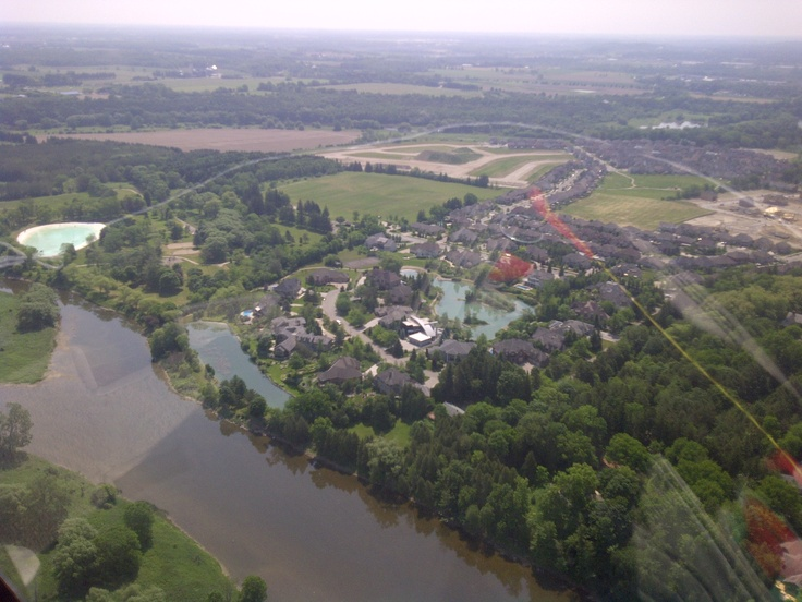 Father's Day Helicopter ride; 1800 ft above Kitchener-Waterloo, Ontario. For other outdoor adventures and things to do: http://www.summerfunguide.ca/013/outdoor-adventures.html #summer #fun #ontario #fathersday #helicopter