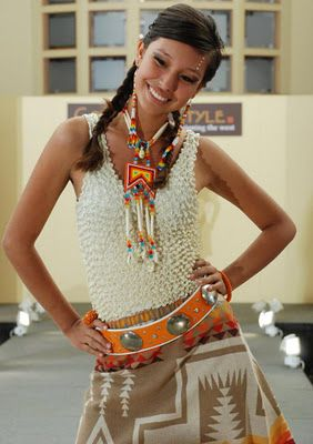 Native fashion designer Mildred Carpenter at the Cody High Style Fashion Show (she was awarded the Best Fashion Collection)