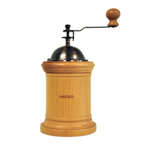 The Hario Coffee Grinder Column Wood is a ceramic grinders with blades that prevent the oxidisation of coffee beans during grinding by reducing the frictional heat between the blade and coffee beans, keeping your beans fresh right up to the brew.