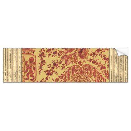 Heraldry Lace Bumper Sticker - craft supplies diy custom design supply special