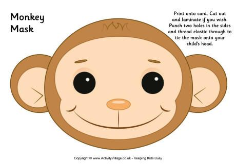 Monkey Mask Printable