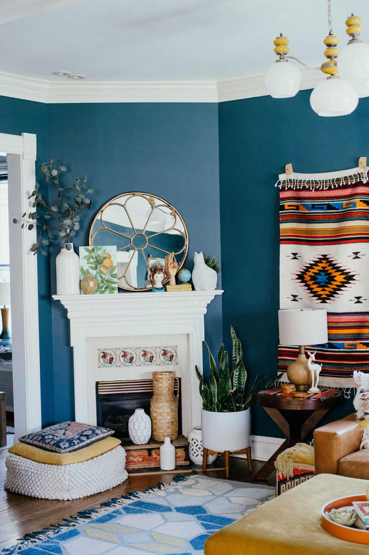 The 35 Best Living Room Fireplace Ideas | Room wall colors ...