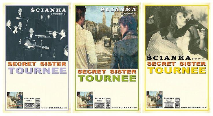 Secret Sister Tour / projekty plakatów /
