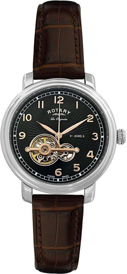 Rotary Watch Les Originales Gents #add-content #bezel-fixed #bracelet-strap-leather #brand-rotary #case-depth-12mm #case-material-steel #case-width-40mm #classic #delivery-timescale-1-2-weeks #dial-colour-black #gender-mens #movement-automatic #official-stockist-for-rotary-watches #packaging-rotary-watch-packaging #style-dress #subcat-les-originales #supplier-model-no-gs90500-19 #warranty-rotary-official-lifetime-guarantee #water-resistant-waterproof