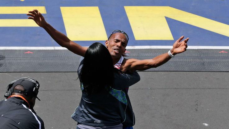BOSTON, Massachusetts, USA / BOSTON MARATHON 2014 / Meb Keflezighi wins Boston Marathon, first American male winner since 1983 - Sporting News / Monday, April 21st, 2014 http://www.sportingnews.com/sport/story/2014-04-21/boston-marathon-2014-results-american-wins-meb-keflezighi-long-distance-rita-jeptoo?eadid=SOC/Twi/SNMain