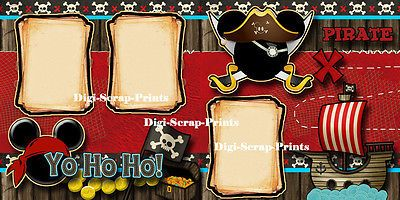 DISNEY-PIRATES-OF-THE-CARIBBEAN-2-premade-scrapbook-pages-paper-layout-DIGISCRAP