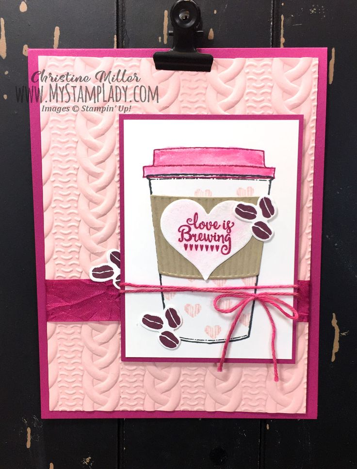 Stampin' Up! Merry Cafe, Coffee cafe, coffee cups framelites all together for Valentine's Day. Find supplies at www.shopwithmystamplady.com