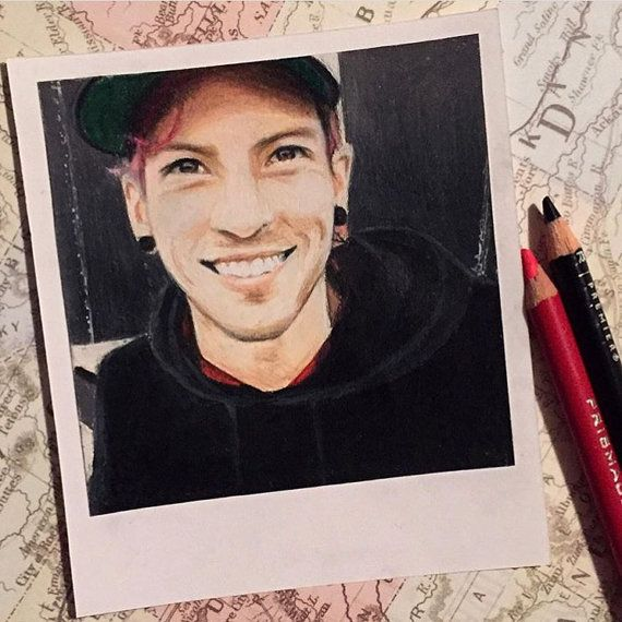 Josh Dun  Print of Polaroid Drawing by thisismyshopbye on Etsy