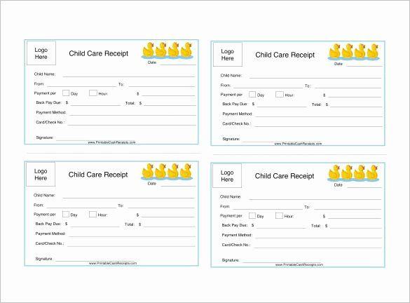 Child Care Invoice Template Unique Daycare Receipt Template 12 Free Word Excel Pdf Receipt Template Invoice Template Simple Business Plan Template