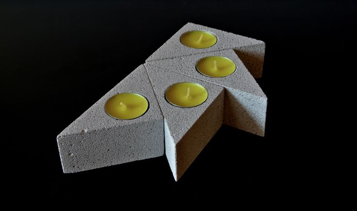 Variable mini tea light holders from aereted concrete / ytong / hebel . Handmade items :)