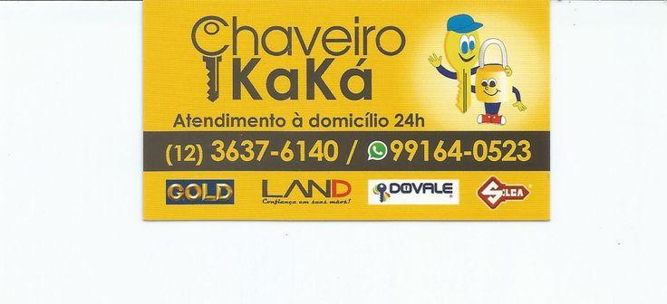 Disk Chaveiro Kaká O seu socorro de confiança Com vendas de material elétrico e hidráulicos Acesse: http://achempinda.com.br/empresa/disk-chaveiro-kaka/   Atendimento a domicilio 24 Horas Horário de atendimento da loja 08:00 às 18:00 horas Telefone Fixo: (12) 3637-6140 WhatSapp: (12) 99164-0523