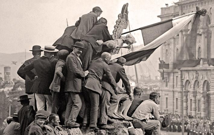 Trieste, arriva la salma di Francesco Ferdinando da Sarajevo, 1914
