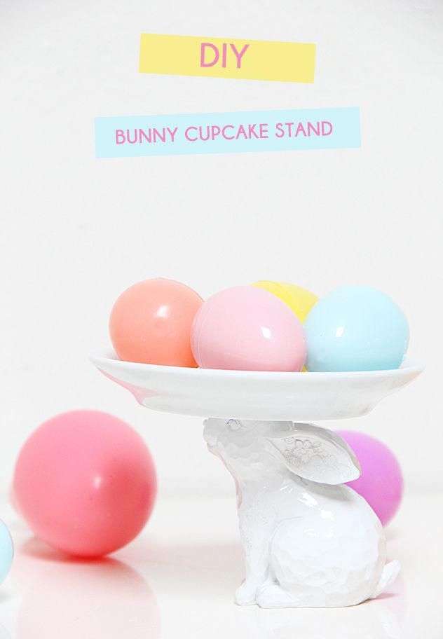 A Bubbly Life: Bunny Cupcake Stand DIY