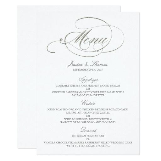 As 25 melhores ideias de Wedding menu template no Pinterest Mesa - dinner party menu template