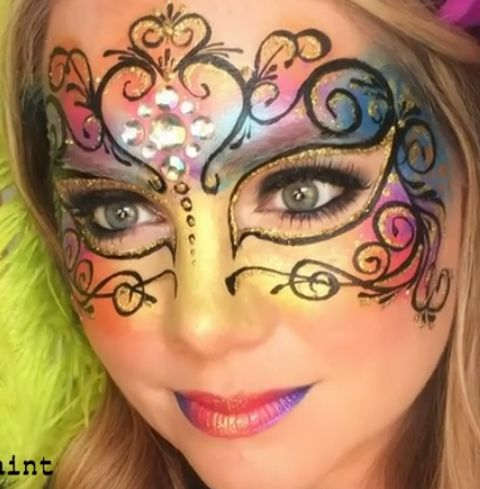 Lisa Joy Young Venetian Mask Face Paint