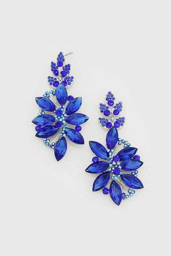 Crystal Charisse Earrings in Royal on Emma Stine Limited