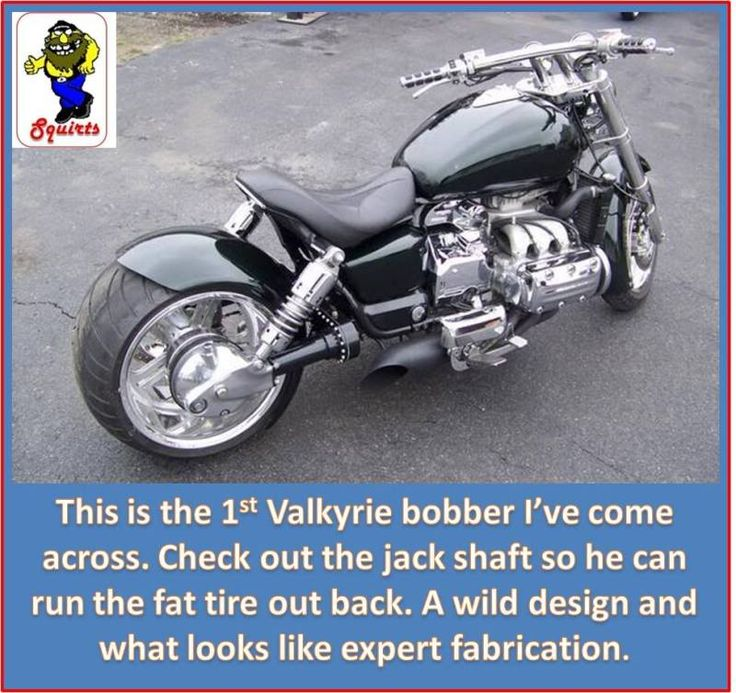 Shaft Drive Chopper : Honda valkyrie quot power bobber check out the jack shaft