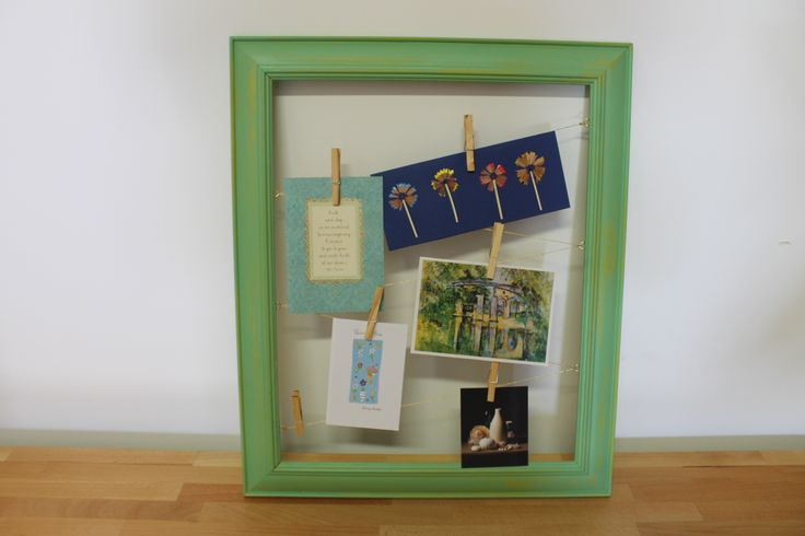 Upcycled frame great for displaying your favourite cards and photo,s