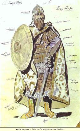 Constantin Korovin. Prince Igor. 1909. Costume design for for Borodin's opera Price Igor