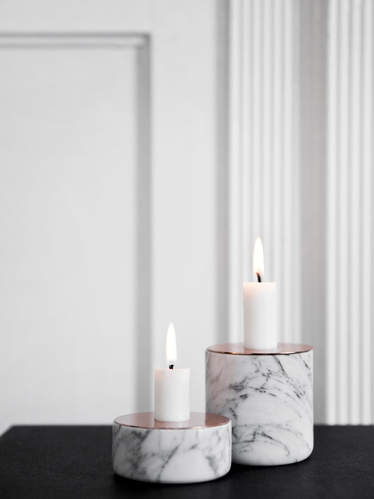 Marble candle holder CHUNK OF MARBLE L Chunk Collection by MENU | design Andreas Engesvik
