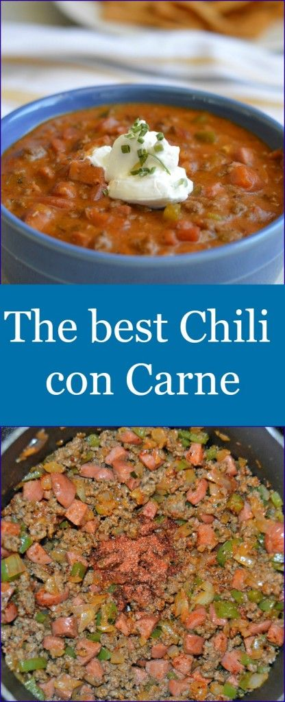 This chili con carne will have you begging for more. It has the perfect amount of spice and is so addicting!