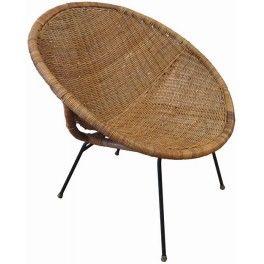 Vintage Wicker Bucket Chair