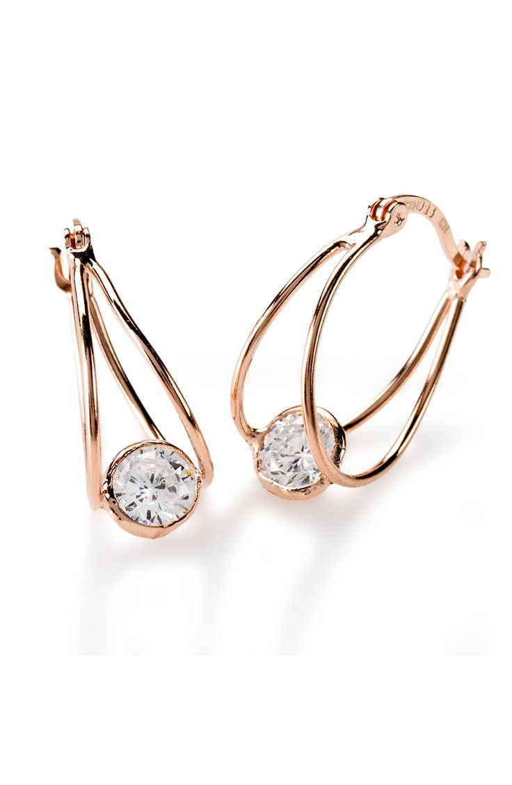Oh, yeah. These are so being worn this weekend! Hello, world: we're fabulous. | 2.86ctw Round 18k Rose Gold Over Sterling Silver Earrings