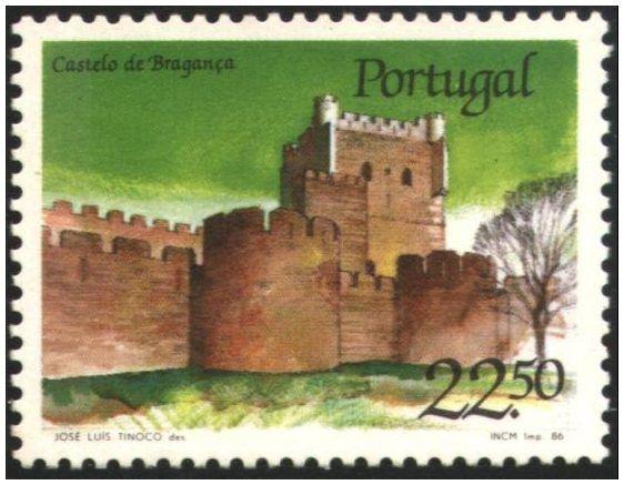 Selos - Afinsa nr 1755 - Scott nr 1666. - Castelo de Bragança