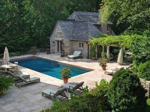 just a little longer and the perfect lap pool - yet still a fun swimming pool for kids.: Lap Pools, Backyard Area, Pools Landscape, Backyard Bliss, Kids Stuff, For Kids, Pin Boards, Swim Pools, Pools Ideas
