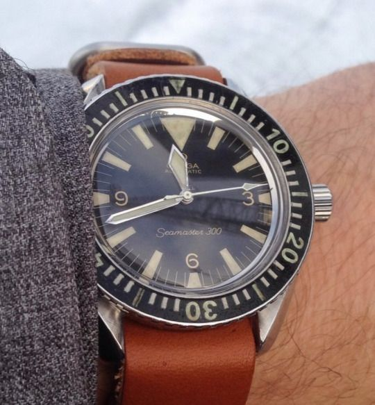 Vintage OMEGA Seamaster 300 Big Triangle Diver In Stainless Steel Circa 1960s