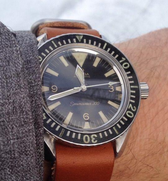 Vintage omega seamaster 300 big triangle diver in - Omega dive watch ...