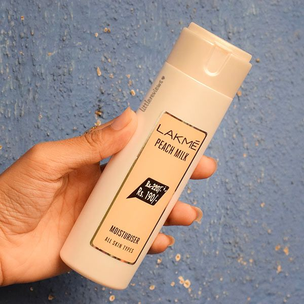 LAKME PEACH MILK MOISTURIZER BODY LOTION REVIEW